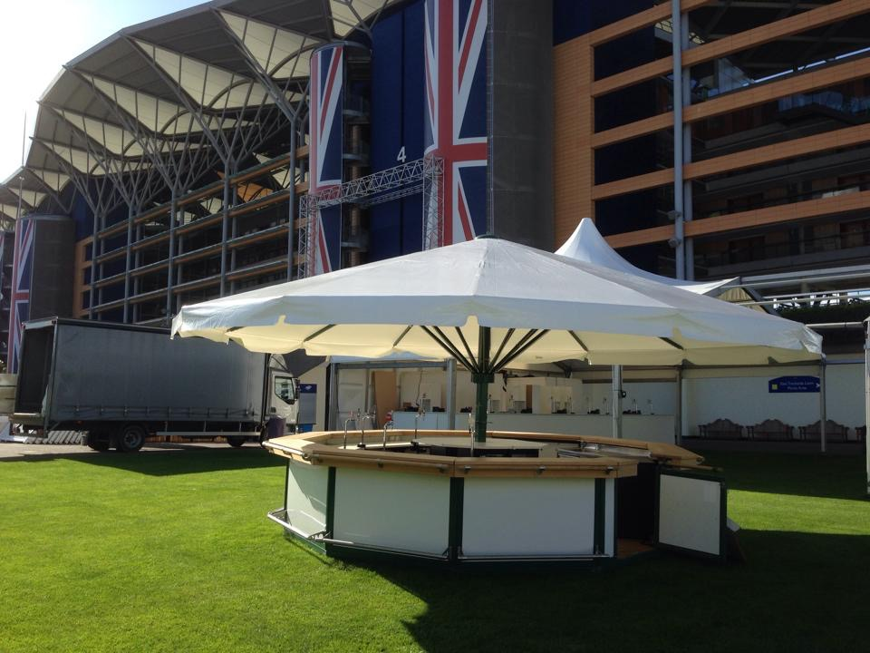 Whether it is to extend your existing facility's capacity or create a new venue, The Umbrella Bar Company will have a solution for you.  The Umbrella Company, owned and operated by Marlin Marquees, are the only UK hire company for the world's largest self-supported umbrellas and umbrella bars, manufactured by Meissl.