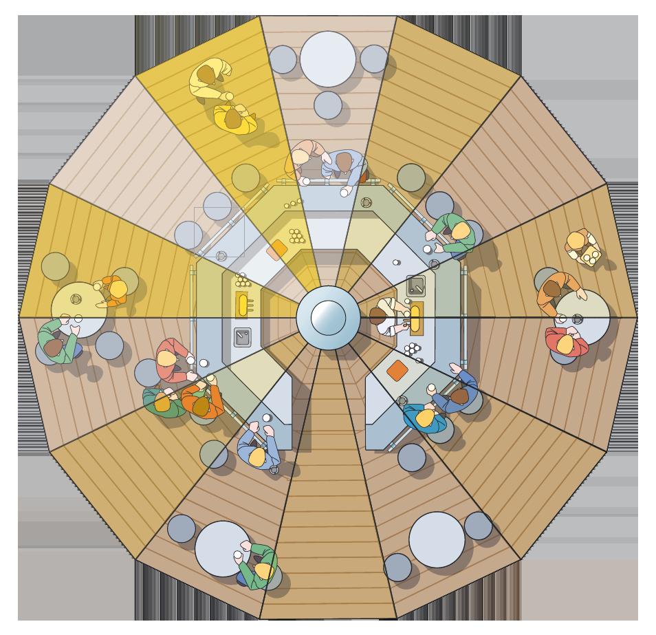 Bertha Umbrella Bar for Hire Diagram